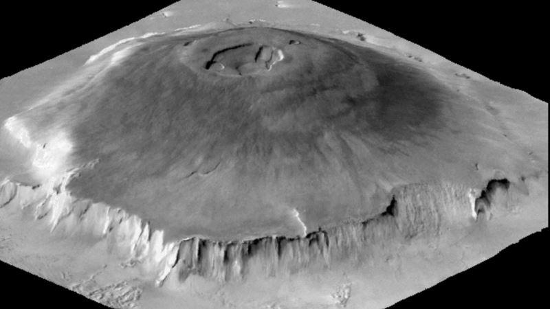 Martian Volcano Erupted for 2 Billion Years