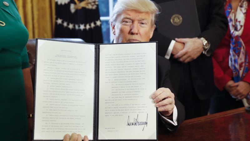 Trump Takes Aim at Financial Industry Regulations