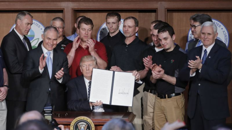 Trump Environment Order Scorned by Climate Activists and Skeptics