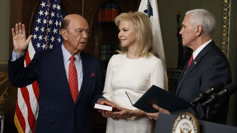 Wilbur Ross Sworn In as US Secretary of Commerce