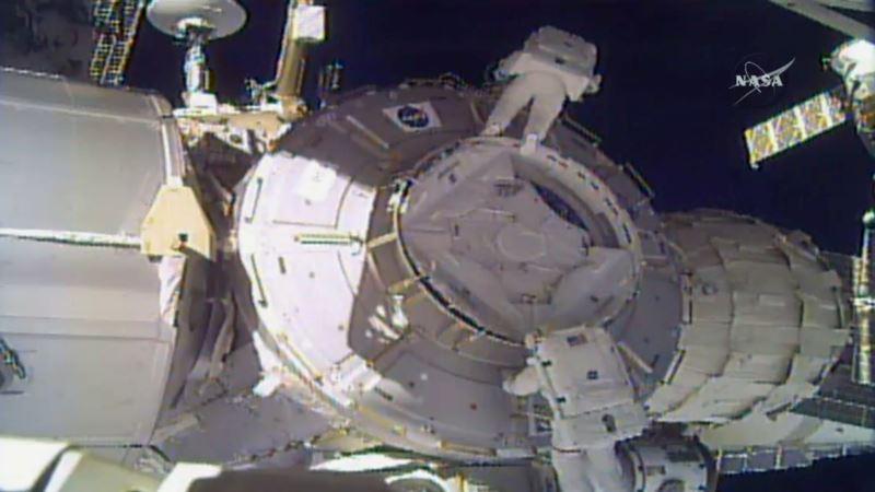 Space Station Debris Shield Floats Away During Spacewalk
