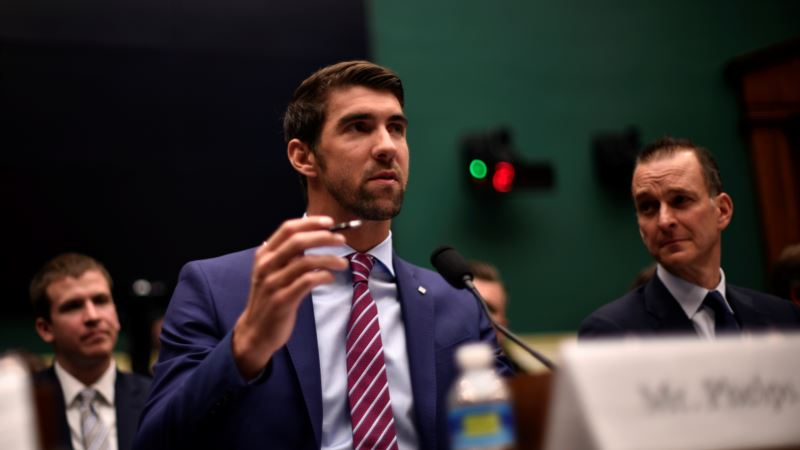 Michael Phelps Talks to Congress About Athlete Drug Testing