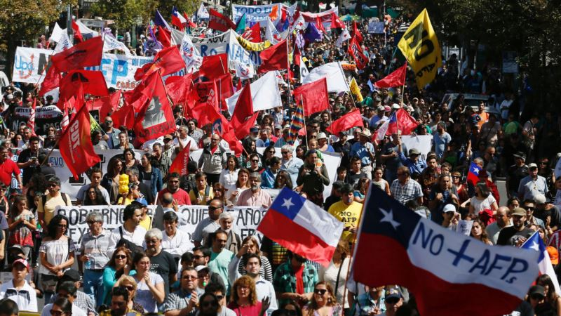 Chile's President Bachelet Presents Bill to Boost Pensions