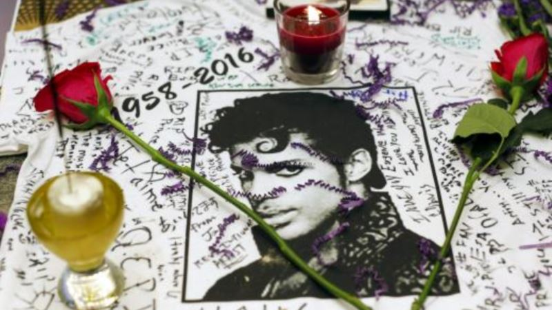 Fans Gather at Prince's Home One Year After His Death