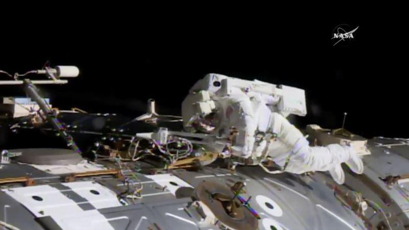 Spacewalking Astronauts Tackle Urgent Station Repairs