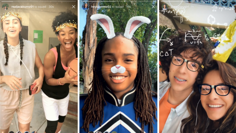 Instagram Launches Snapchat-like Filters