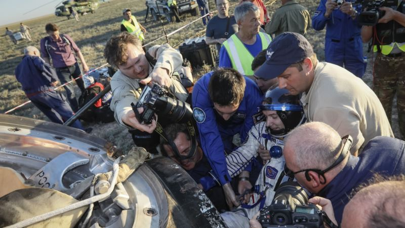 Russian, French Astronauts Return From Space Station Stint