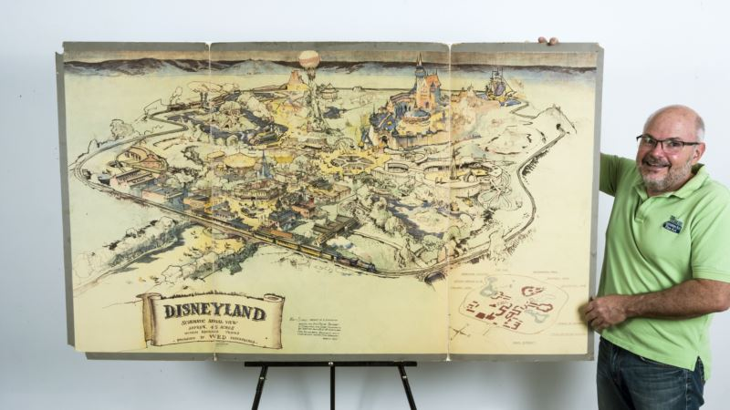 Vintage Disneyland Concept Map Sells at Auction for $708,000