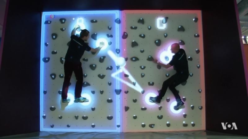 Turning a Climbing Wall Into a Video Game