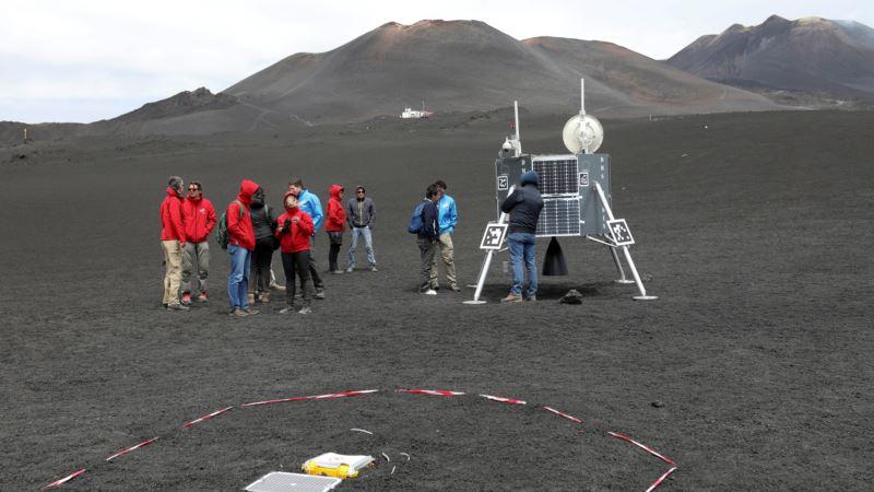 Lunar Robots Put to Test on Sicily's Mount Etna