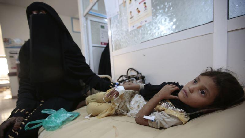 Malnourished Children at Risk of Death from Cholera in Yemen, Africa