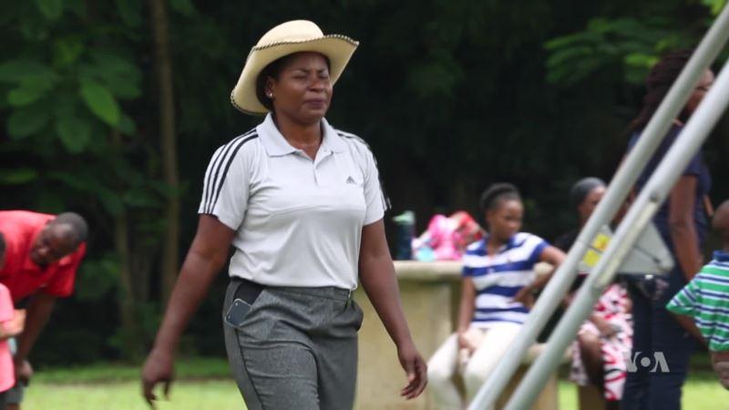 Nigeria's 'Queen of Golf' Trains Her Potential Successors