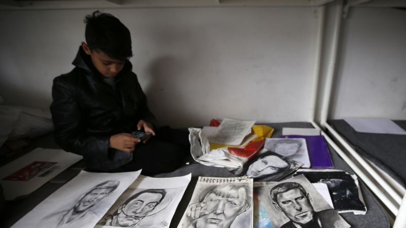 Migrant Boy Called 'Little Picasso' Shows Works in Serbia