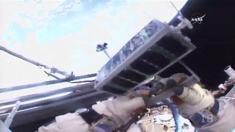 Cosmonauts Release 3-D-printed Satellite