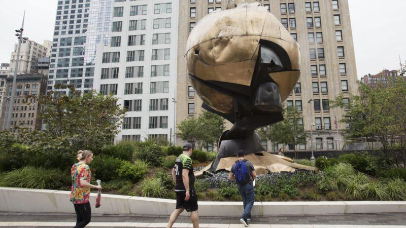 Sphere Sculpture Has New Home Overlooking 9/11 Memorial