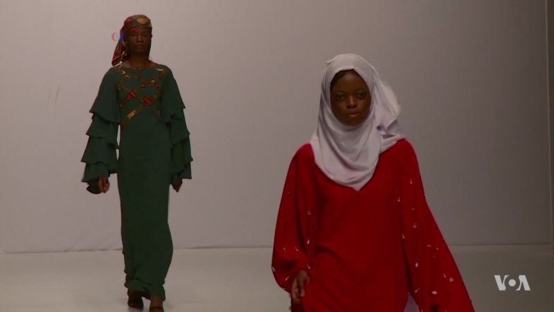 Plunging Necklines, See-through Tops, Conservative Wear at Lagos Fashion Week