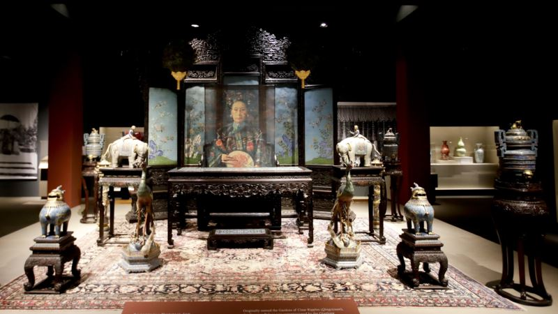 Rare Art From China's Empress Dowager Comes to US