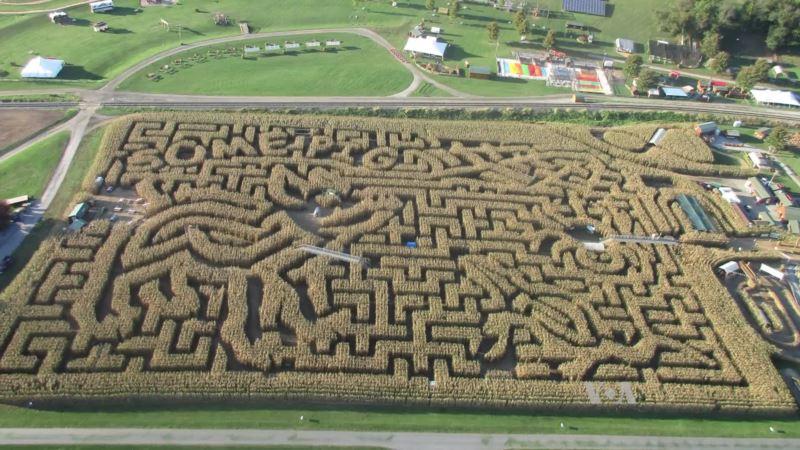 An Amazing Corn Maze in Pennsylvania