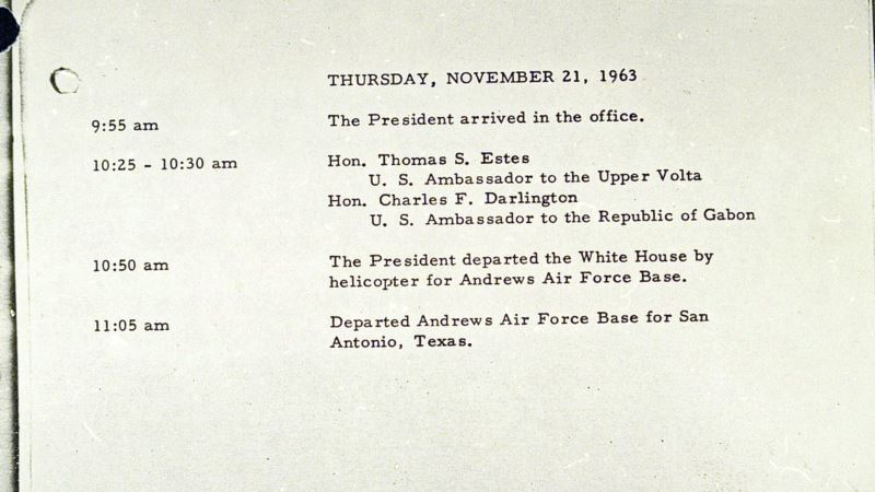 Last Document Signed by JFK in White House Up for Sale
