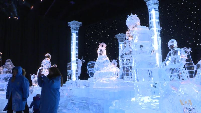 A Winter Wonderland Made of 2 Million Pounds of Ice