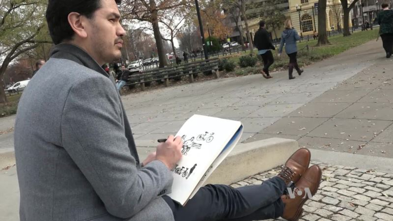 Postcards of DC Daily Life by a Mexican Immigrant