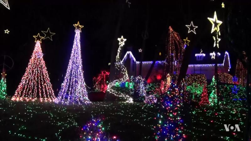Homes Go All Out with Christmas Light Displays