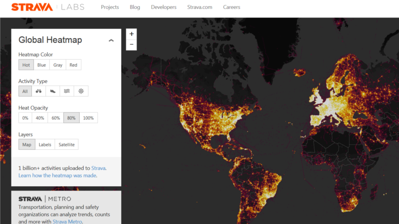 Published Global Fitness Map Sparks Military Security Concerns