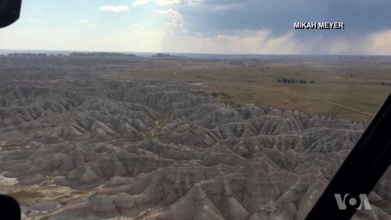 Badlands Carved by Water and Wind
