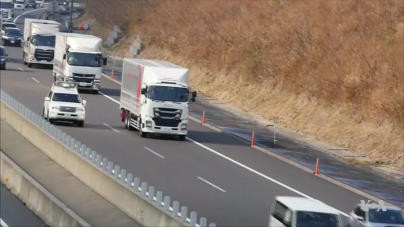 Big Rigs Almost Driving Themselves on the Highway