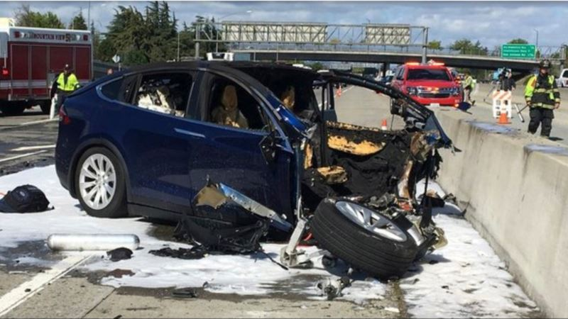 NTSB 'Unhappy' Over Tesla Crash Statement