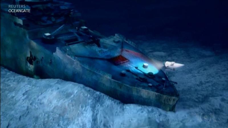5-Person Sub Readies for Titanic Dive