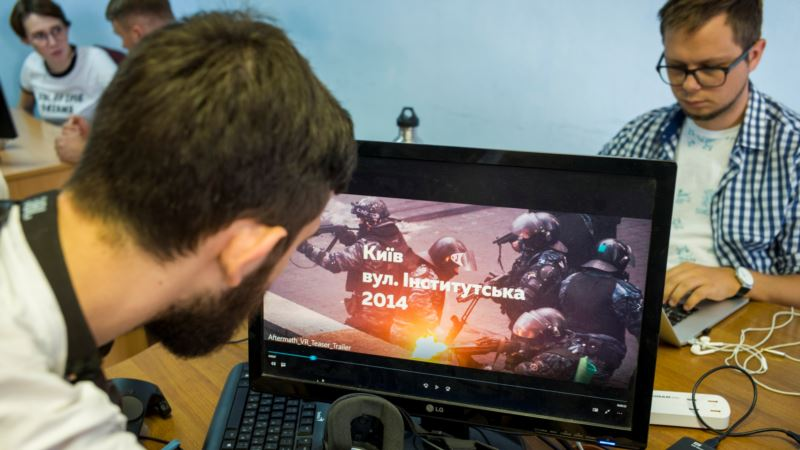 Ukrainians Relive Bloodshed of Kyiv's Maidan in Virtual Reality