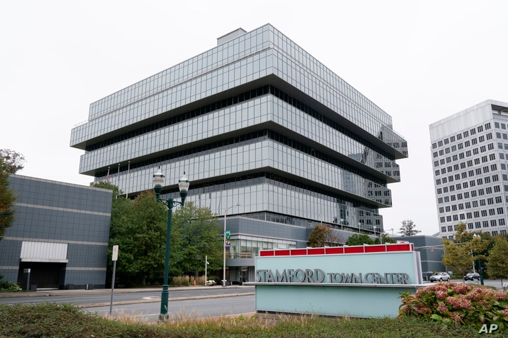 Purdue Pharma headquarters stands in Stamford, Connecticut, Oct. 21, 2020.