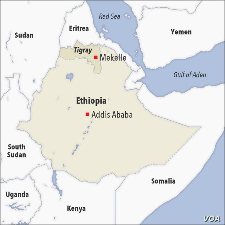Map of Mekelle Ethiopia