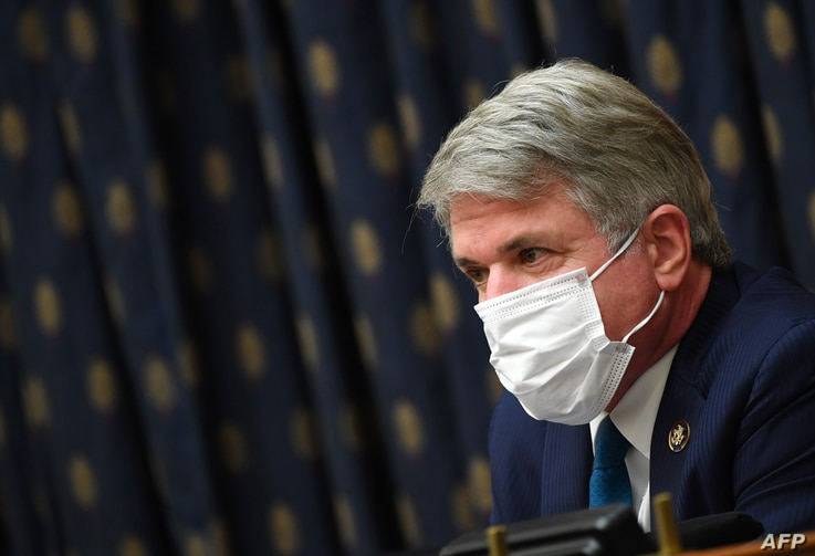 Ranking Member Michael McCaul, questions witnesses during a House Committee on Foreign Affairs hearing looking into the firing…
