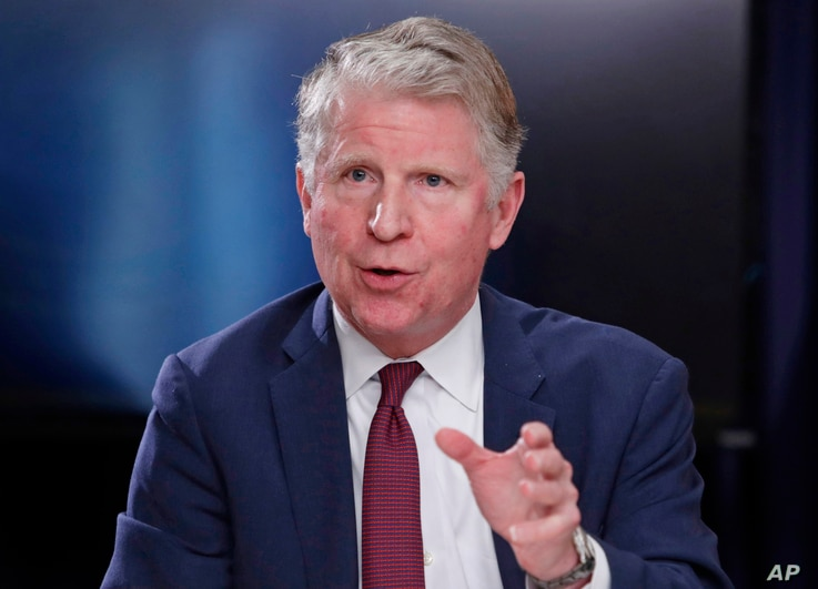FILE - In this May 10, 2018, file photo, Manhattan District Attorney Cyrus R. Vance, Jr., responds to a question during a news…